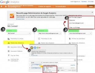nouvelle adminiistration google analytics