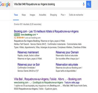 serp booking cannibalisation