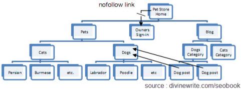 La structure des liens internes