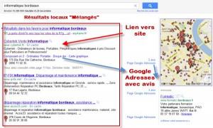 """Résultats google locaux mélangés dit """"hybrides"""""""