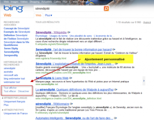 Bing adaptative search