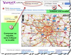 Comment utiliser la recherche locale chez Yahoo!