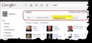 google plus et fonctionnalité de recherche locale