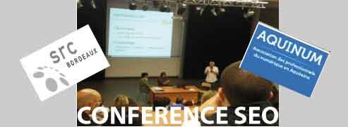 Conférence seo par Aquinum à Src bordeaux post image