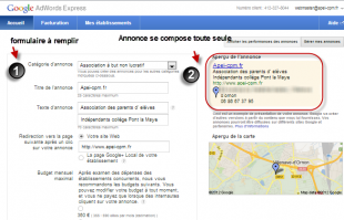 Interface google adwords express