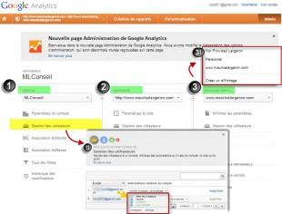 nouvelle adminiistration google analytics