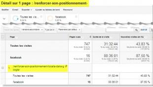 Page dans rapport personnalisé + 1 segment