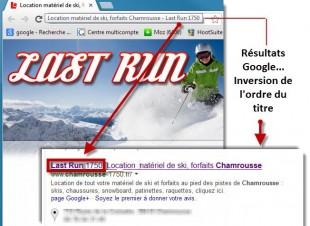 Création des  titres serp Google