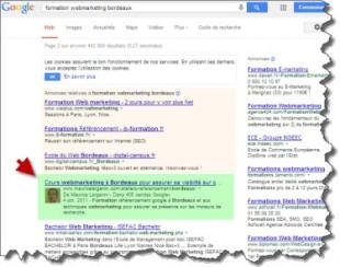 Serp Google Auteur