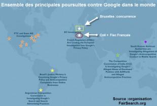 Les poursuites contre google
