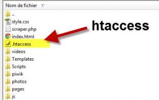Fichier htaccess sur hébergeur