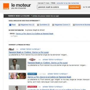 Notre moteur de news Français !