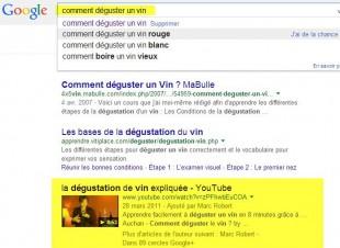 Des Serp Google sur Vidéos souvent en haut de page..
