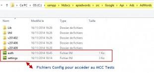 Paramétrer les fichiers config. pour communiquer avec MCC test