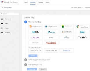 Nouvelle interface Tag Manager
