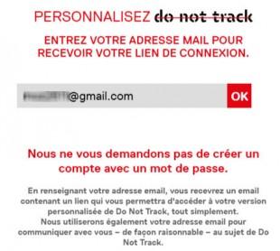"""Intéractivité assumée par email de """"donotrack"""""""
