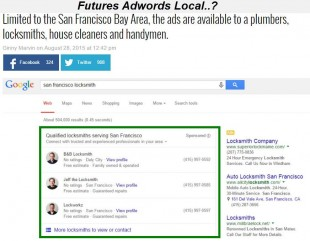 Future annonces local adwords express