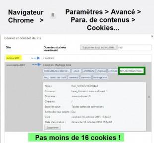 Paramètres des cookies