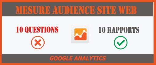10 rapports Google analytics pour qualifier une audience