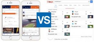 Facebook sport stadium et Humingbird Google