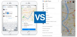 transport messenger et google maps