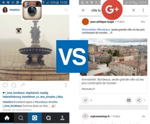 Instagram et Collection G+