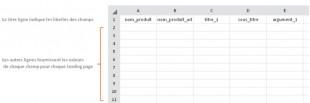 Fichier csv à personnaliser