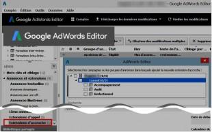 Adwords editor s'enrichit..