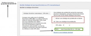strategie de portefeuille adwords