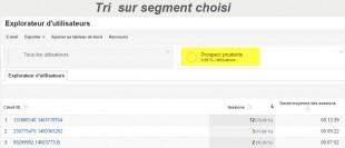 Filtre sur segment Google analytics