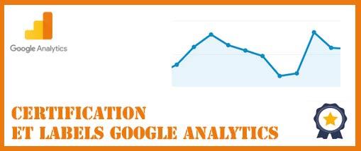 Certifications et badges google analytics