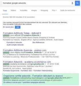 Prévisualisation dans google adwords