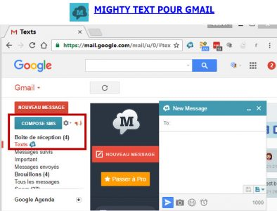 Envoi Sms depuis Gmail