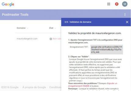 Installation de son propre domaine dans gmail