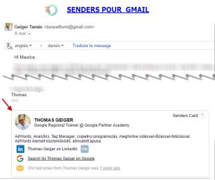 Carte d'identité sociale senders-and-gmail