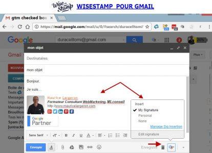 WiseStamp une signature pour chaque envoi