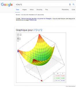 Vue 3 D dans google