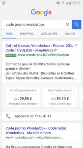 Extension de prix sur mobile uniquement