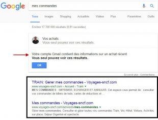 Affichage privé des contenus sur les services google