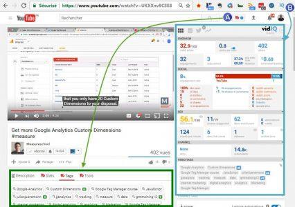 Utilisation des 2 outils sur une même page youtube
