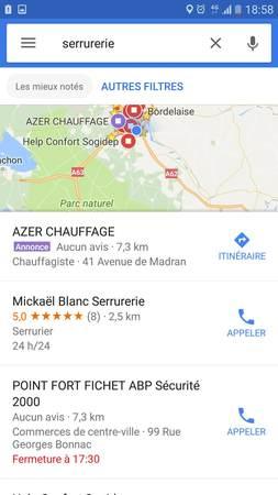 Annonces recherche sur google maps directe