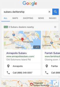 google maps publicité 2017