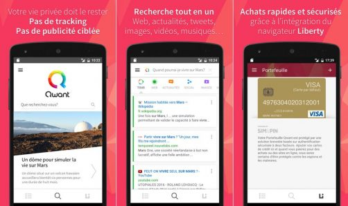 Nouvelle application qwant