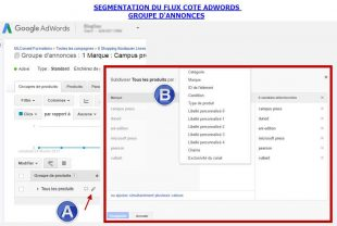 Segmentation cote adwords