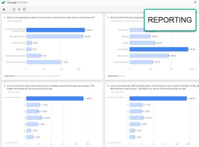 reporting google surveys