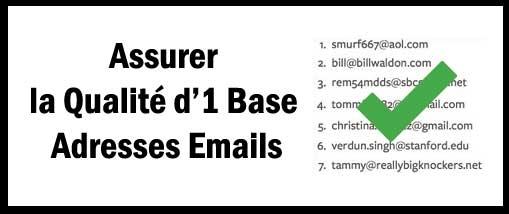 Assurer la qualité d'une base emails