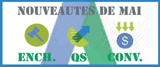 3 Nouveautés AdWords : Enchères, Score de qualité et Conversions