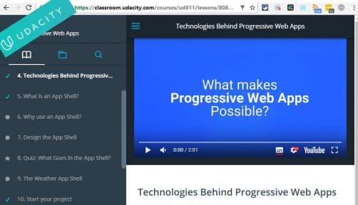 apprendre les progressive web app