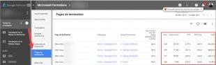 rapport pages de destination