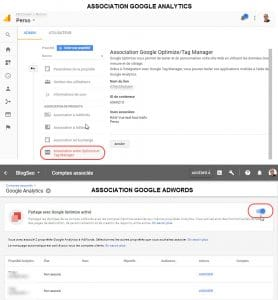 Association des comptes GA et ADW